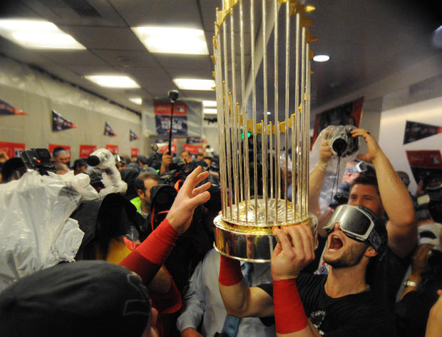 美国职业棒球大联盟:洛杉矶道奇队的世界系列赛 - 波士顿红袜队