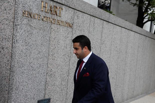 沙特阿拉伯驻美国大使哈立德·本·萨勒曼·本·阿卜杜拉齐兹亲王抵达华盛顿国会山