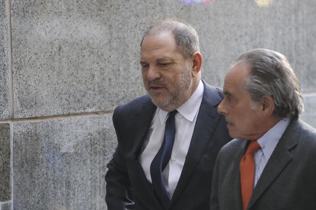 哈维温斯坦在刑事法庭上出庭强奸指控