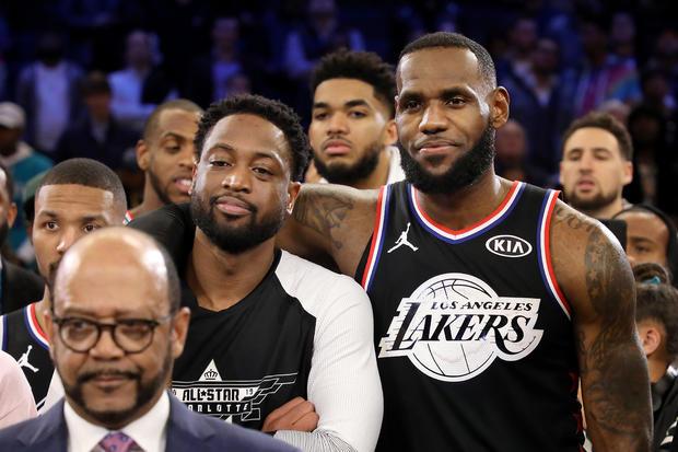 勒布朗詹姆斯,德维恩韦德 -  2019年NBA全明星赛