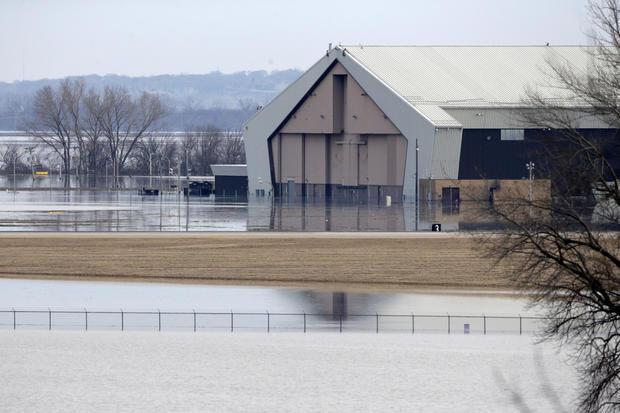 冬季天气洪水内布拉斯加州