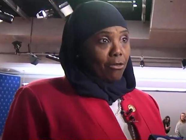 宾夕法尼亚州民主党众议员Movita Johnson-Harrell于2019年3月26日在宾夕法尼亚州哈里斯堡向记者发表讲话。