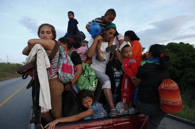 中美洲移民大篷车 - 儿童