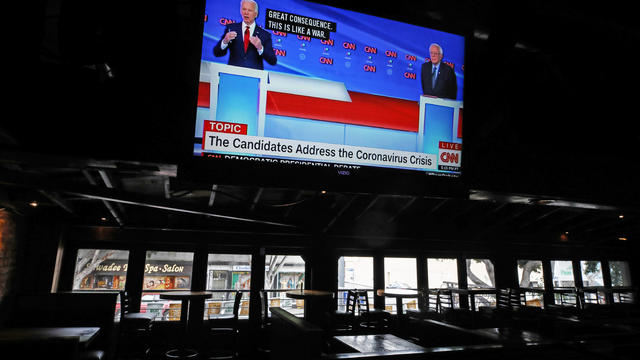 Candidates Joe Biden And Bernie Sanders Debate As Nation Copes With Coronavirus Emergency
