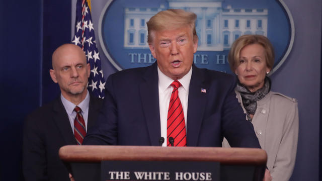 U.S. President Trump leads coronavirus task force daily briefing at the White House in Washington