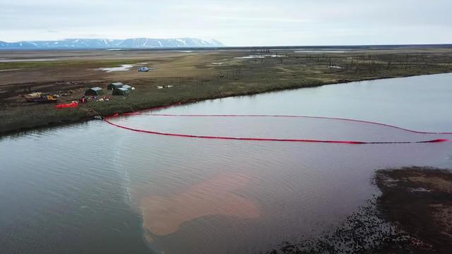 diesel fuel spill Russia