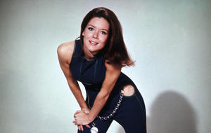 Diana Rigg in Emma Peel Outfit