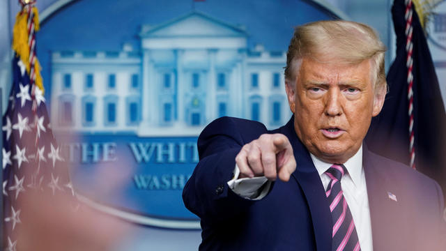 U.S. President Trump holds news conference at the White House in Washington