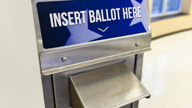 Ballot Drop Box For Mail In Ballots In Berks County Pennsylvania