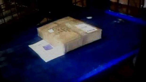Undetonated package
