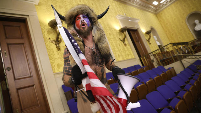 Protester in the Senate Chamber