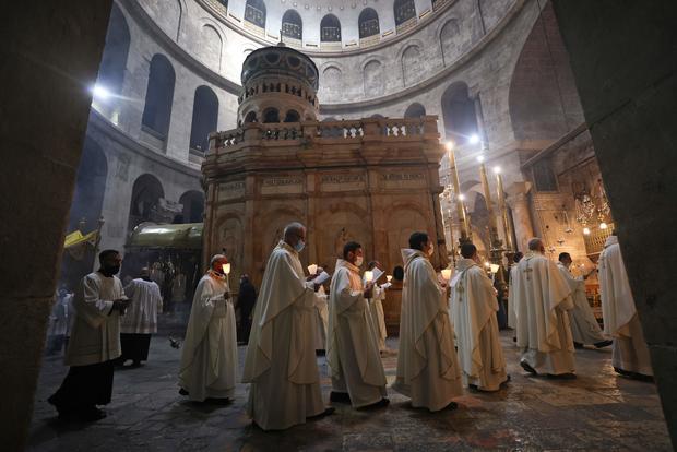TOPSHOT-ISRAEL-PALESTINIAN-RELIGION-CHRISTIANITY-HOLY THURSDAY