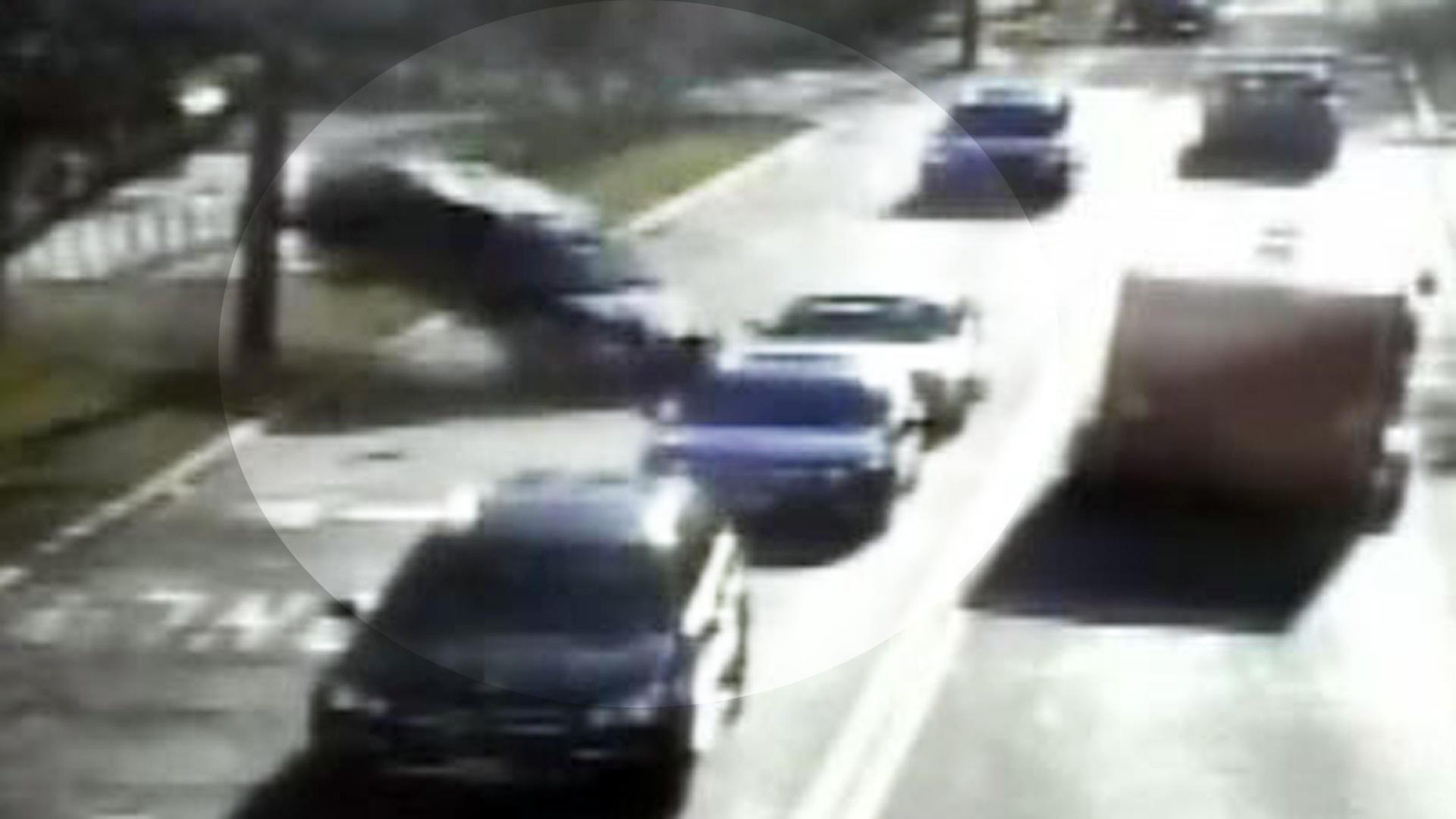 Wild car crash caught on tape - CBS News