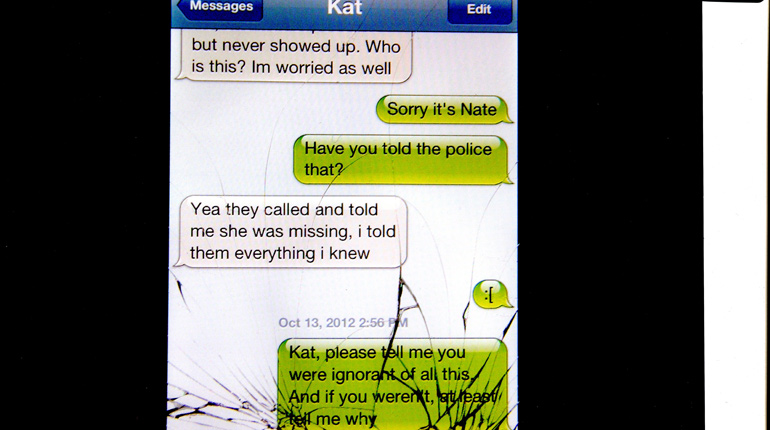 Nate McNeal's text to Kat McDonough