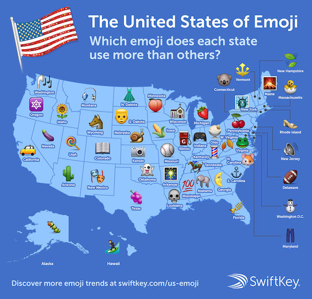 emoji map shows idaho loves weddings vermont hearts cbs news