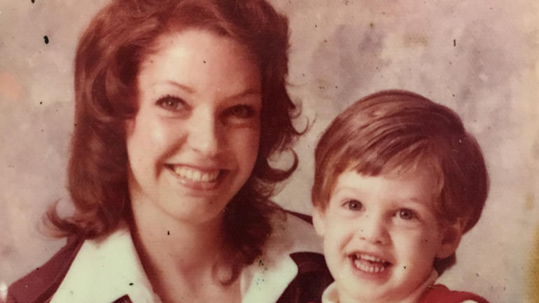 Regina Tague and her son, Todd Kohlhepp