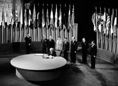 The San Francisco Conference, 25 April - 26 June 1945: Syria Signs the United Nations Charter