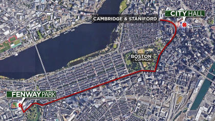 Boston Red Sox 2018 parade route