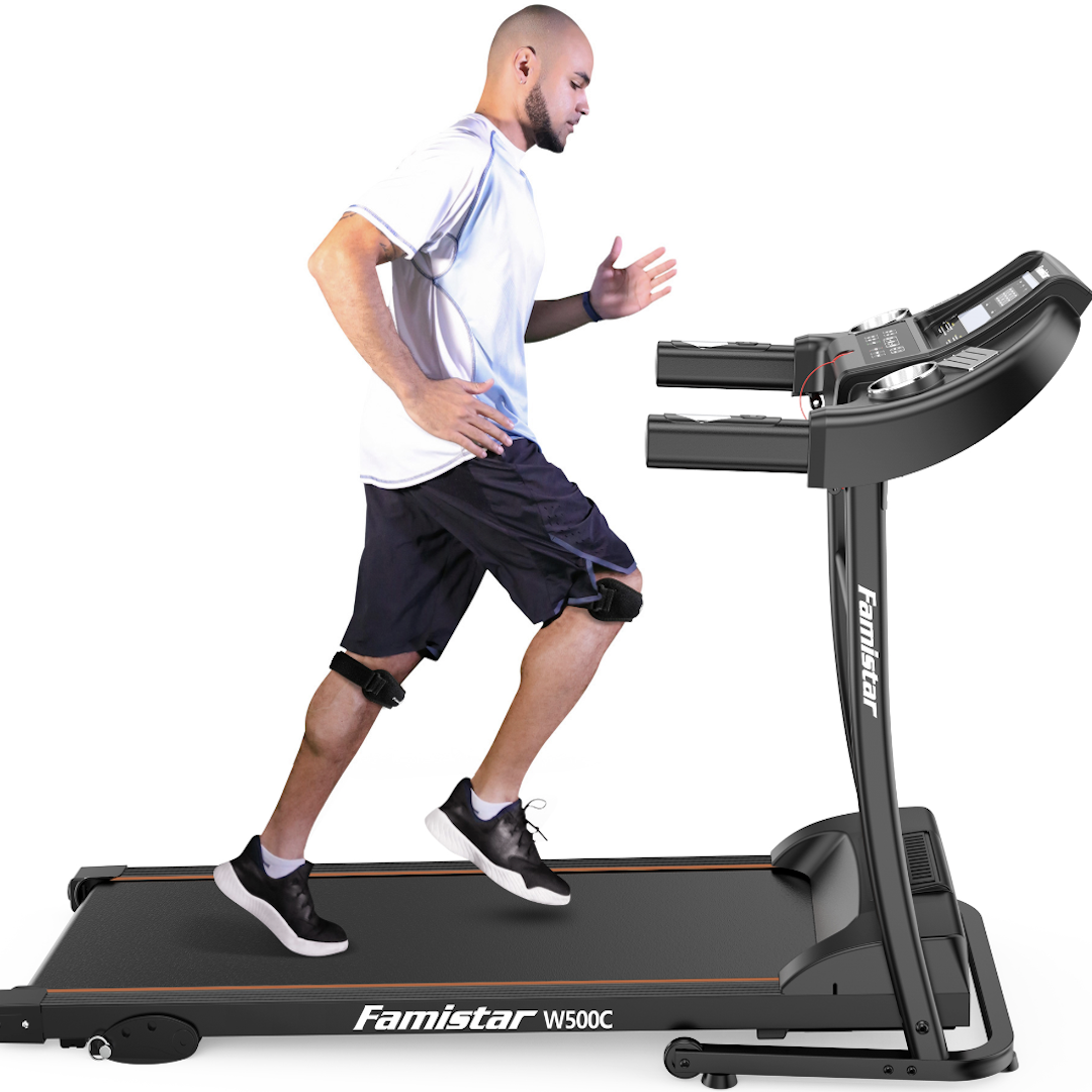 Famistar W500C Electric Folding Treadmill with Heart Pulse System/ Low Noise Electric Running Training Fitness Treadmill