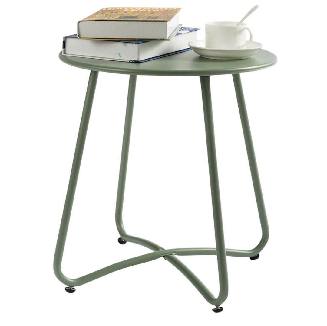 HollyHome small round patio side table