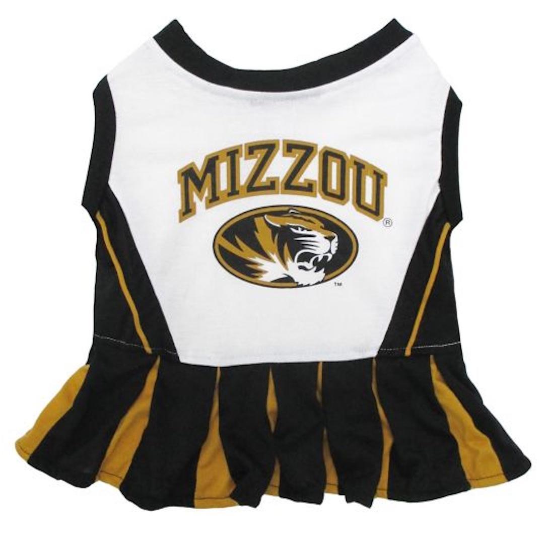Pets First Missouri Tigers Pet Cheerleader Dress