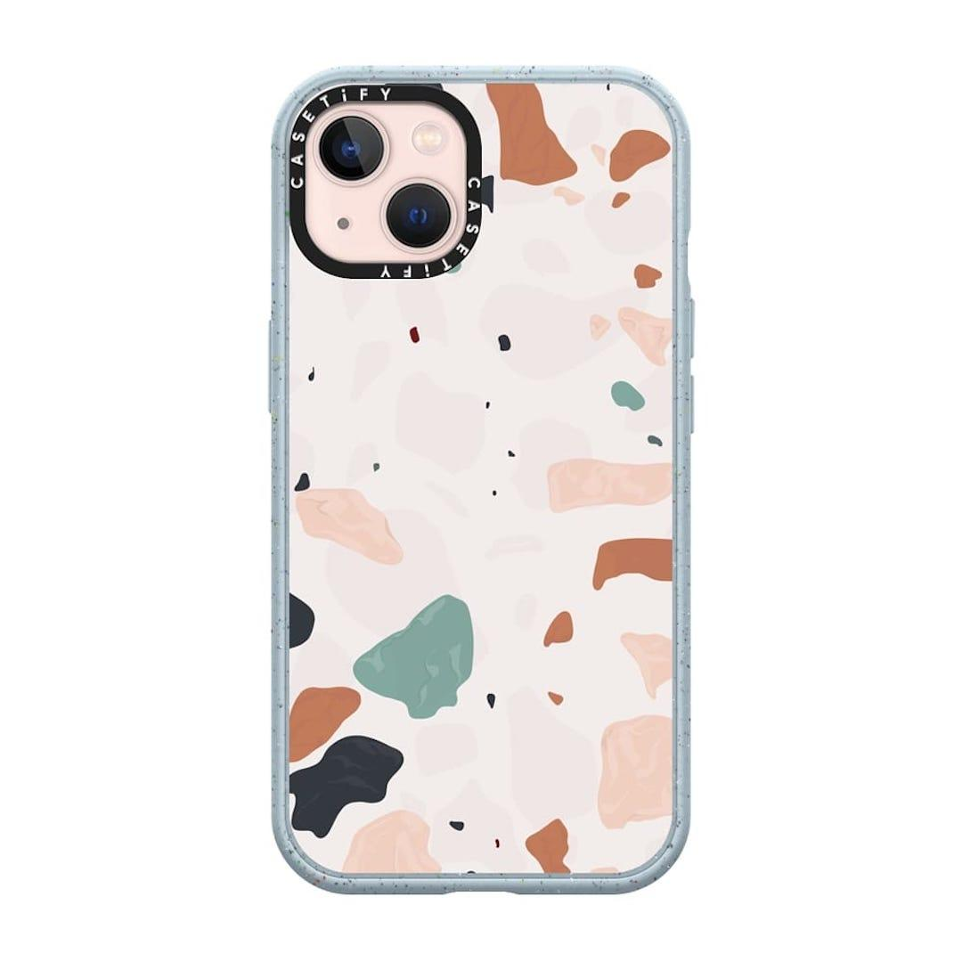 Casetify Terrazzo with Opaque Background case