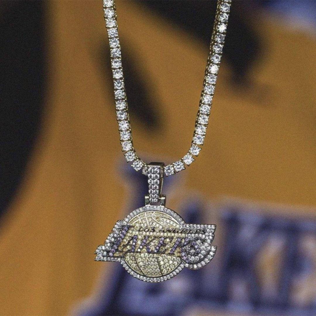 14k gold NBA Lakers pendant