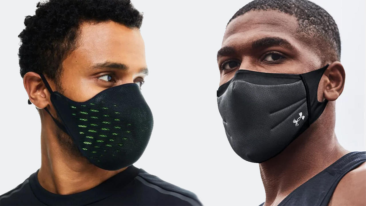 Exercise face masks being worn