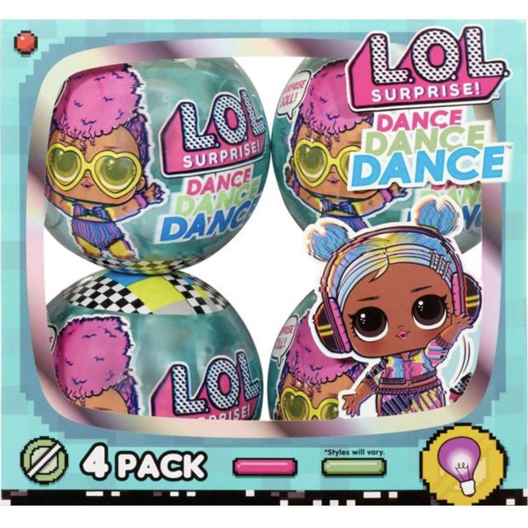 L.O.L. Surprise! Dance Dance Dance Dolls 4pk