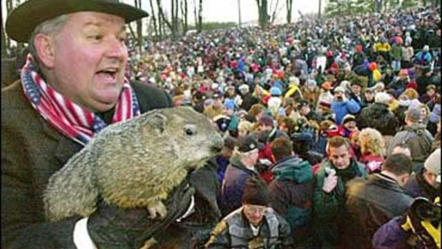 Punxsutawney Phil Spots Shadow