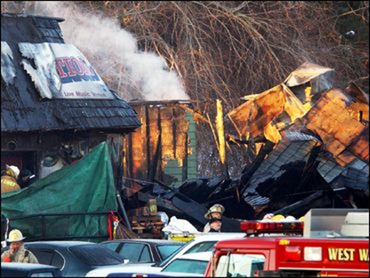 the station nightclub fire Thousands of mourners attended a memorial service at st gregory the great church in warwick on february 24, 2003, to remember those lost in the fire.