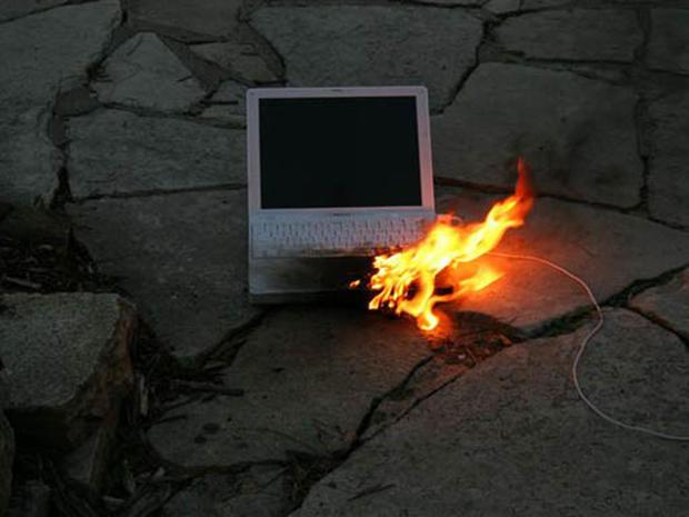 Burning Laptop