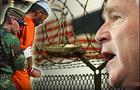 President Bush overstepped his authority with military war-crimes trials for foreigners held at the U-S. prison camp