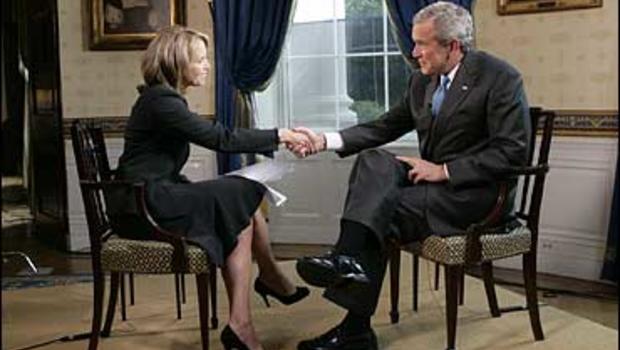 Katie Couric meets George W. Bush