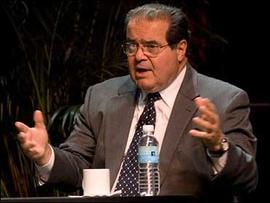 .S. Supreme Court Associate Justice Antonin Scalia speaks during debate at ACLU, Oct. 15, 2006 in Washington.