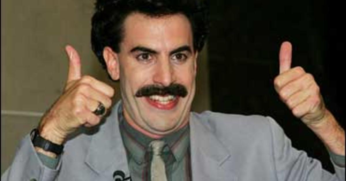 image2107860x borat' conquers the blogs high five! cbs news