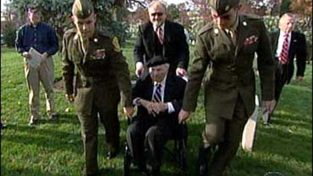 Frank Buckles, 105, commemorates Veterans Day at Arlington National Cemetery on November 11, 2006.