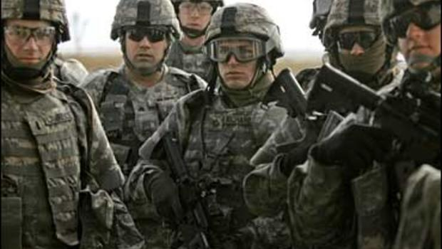 soldiers train for Iraq at Fort Riley, Kansas