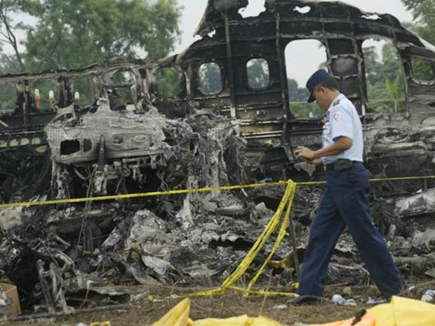 Indonesia Jetliner Fire
