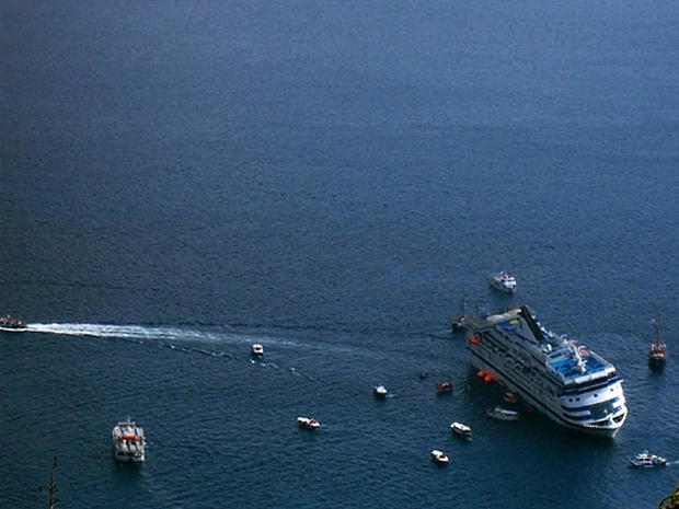 Greek Cruise Ship Sinks