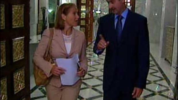 Katie Couric and Syrian President Bashar Assad