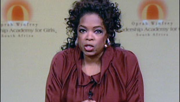 oprah speaks out on school scandal cbs news