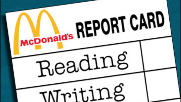 a beef over ads on report card covers cbs news