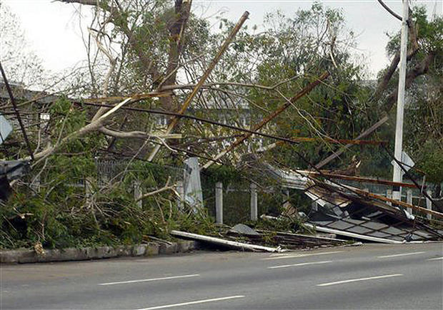 Cyclone Slams Myanmar
