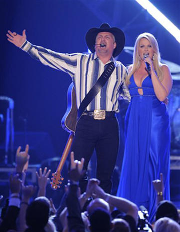 Country Stars On Stage At ACMs