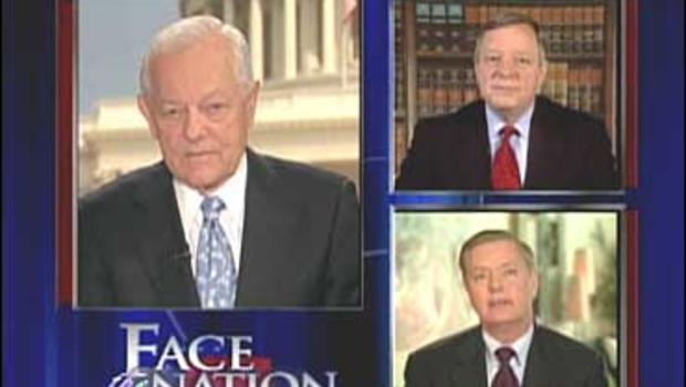 "Senators Dick Durbin, D-Ill., and Lindsey Graham, R-Fla., join Bob Schieffer on ""Face The Nation"""