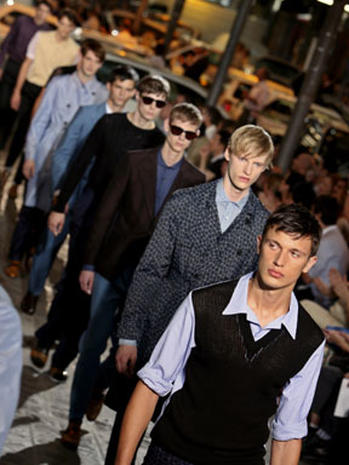 Men's Fashion Lines Crossed