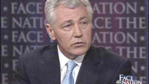 "Sen. Chuck Hagel, R-Neb., on ""Face The Nation."""
