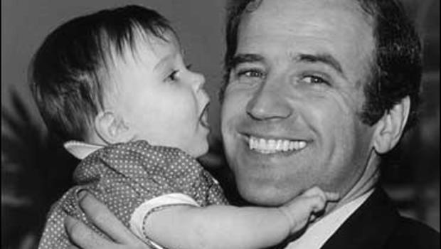 In this photo provided by Sen. Biden's office, Sen. Joe Biden, D-Del., holds his daughter Ashley.