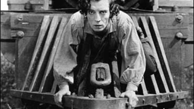 """Buster Keaton in """"The General."""""""